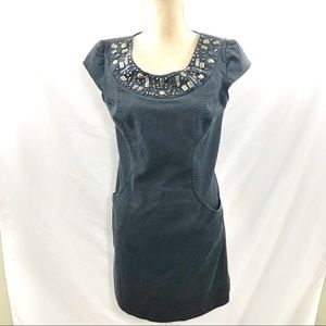 🎈5 for $35 Dress Barn Beaded Accent Dress Sz 6P